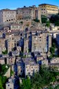 View Of Sorano Old Italian Village In Tuscany Stock Images - 100979814