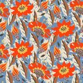 Vector Hand Painted Floral Pattern Royalty Free Stock Image - 100993906