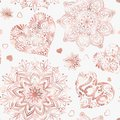 Love Heart Seamless Pattern In Rose Gold Colors. Royalty Free Stock Photos - 101015128