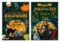 Halloween Holiday Horror Party Welcoming Banner Royalty Free Stock Image - 101022496