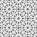 Islamic Seamless Vector Pattern. White Geometric Ornaments Based On Traditional Arabic Art. Oriental Muslim Mosaic Royalty Free Stock Image - 101102896