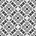 Black And White Simple Star Shape Geometric Seamless Pattern, Vector Black And White Simple Star Shape Geometric Seamless Pattern, Royalty Free Stock Photo - 101171885