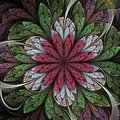 Colorful Fractal Flower Royalty Free Stock Photo - 101214985