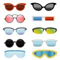 Set Of Different Sun Glasses Stock Image - 101264611