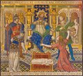 London - The Tiled Mosaic Of Salomon Judgment Just Judgment In Westminster Cathedral Stock Images - 101292814