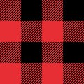 Red And Black Tartan Plaid Seamless Abstract Checkered Pattern Background Royalty Free Stock Photo - 101306315