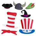 Hats Different Funny Caps For Party Holidays And Masquerade Traditional Headwear Cartoon Clothes Accessory Vector Stock Photos - 101589913