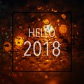 Abstract Bokeh Light Background With Text Hello 2018 Royalty Free Stock Image - 101675396