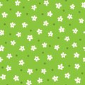 Cute Daisies Drawn By Hand. Cartoon Floral Seamless Pattern. Stock Photo - 101710510