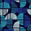 Seamless  Background With Abstract Geometric Pattern. Abstract Digital Glitch Graphic. Royalty Free Stock Images - 101746999