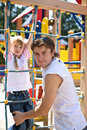 Daddy With  Daughter In Park. Happy Family. Stock Image - 10180051