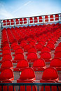 Red Stadium Seats Royalty Free Stock Images - 10180599