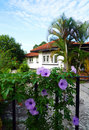 Tropical House And Flowering Garden Royalty Free Stock Photography - 10185607