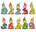 Set Giraffes With Numbers Stock Photos - 101855783