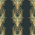 Art Deco Style Geometric Seamless Pattern In Black And Gold. Vec Stock Photos - 101861673