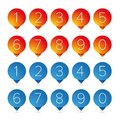 Number Set Pointer Button Royalty Free Stock Photos - 101893808