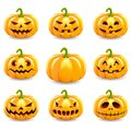 Set Of Halloween Pumpkins Collection. Stock Images - 101910504