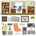 Interior Details Design Stylized Drawing Modern Interior House Residence Luxury Apartment Furniture Decoration Vector Royalty Free Stock Photos - 101921138