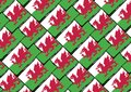 Grunge WALES Flag Or Banner Stock Photos - 101980343