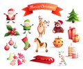 Christmas Cartoon Icons Set Stock Photos - 101999613