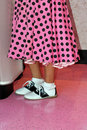 Pink Poodle Skirt And Saddle Shoes Stock Images - 10206704