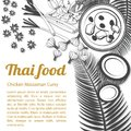 Sketch Thai Food Menu Massaman [Converted] Stock Photography - 102150732