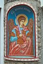 Icon Of An Angel With A Sword On Entrance Into Serbian Monastery Royalty Free Stock Image - 102182456