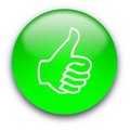 Thumb Up Button Royalty Free Stock Photography - 10229537