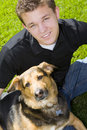 Man And Dog Stock Photography - 10232192