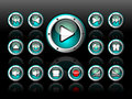 Shiny Button Set For Musical Theme Royalty Free Stock Image - 10237936
