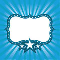 Blue Frame With Stars Stock Image - 10244811