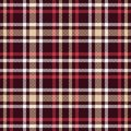 Red And Brown Tartan Seamless Vector Pattern. Checkered Plaid Texture. Royalty Free Stock Images - 102462559