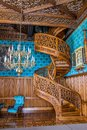 A Spiral Staircase Carved From One A Tree, Castle Lednice Royalty Free Stock Photos - 102670548