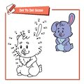 Rabbit Dot To Dot Stock Photo - 102796530