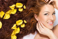 In Yellow Rose Petals Royalty Free Stock Image - 10288726
