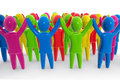 Colorful Crowd Royalty Free Stock Photography - 10298937