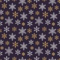 Christmas, New Year Seamless Pattern, Snowflakes Line Illustration. Vector Icons Of Winter Holidays, Cold Season Snow Stock Photos - 102915343