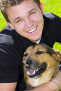 Man And Dog Royalty Free Stock Photo - 10309635