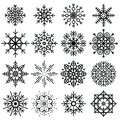 Black Snowflakes Big Set Of Different Variations On White Backgr Royalty Free Stock Image - 103016636