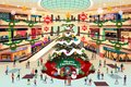 Shopping Mall During Christmas Illustration Royalty Free Stock Photo - 103023055