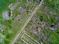 Adamclisi Old Fortress In Dobrogea Romania Aerial View Royalty Free Stock Photo - 103077845