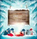 Christmas Holiday Background With Gift Boxes And Magic Box. Royalty Free Stock Image - 103082526