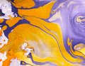Abstract Marble Hand Painted Background In Modern Art Style With Fluid Free-flowing Ink And Acrylic Painting Technique. Stock Photo - 103086960