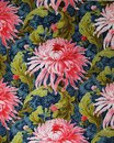 Original Textile Fabric Ornament Of The Modern Style. Crock Is Hand-painted With Gouache. Stock Photo - 103089040