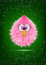 Funny Pink Baby Hairy Monster Face Cartoon Stock Photos - 103092703