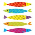Sardine Colorful Fish Icon Set. Iwashi. Sardina Pilchardus. Cute Cartoon Character. Anchovy Pilchard. Water Animal. Marine Life. F Royalty Free Stock Images - 103119979