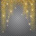 Greeting Card, Shimmer Golden Background. Brilliant Gold Tinsel. Royalty Free Stock Photo - 103221725