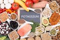 Potassium Food Sources, Top View Royalty Free Stock Images - 103259159