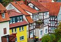 A Row Of Historic Houses In The Old Town Of Schlitz Vogelsberg, Germany Stock Photo - 103330230