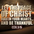 Thanksgiving Colossians 3:15 Royalty Free Stock Photos - 103383988